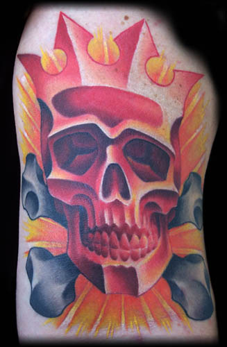 Looking for unique  Tattoos? Red Skull